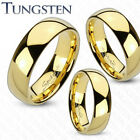 Tungsten Gold Plated Wedding Band Comfort Fit Ring