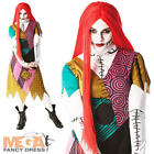 Sally Nightmare Before Christmas Ladies Fancy Dress Halloween Womens Costume New
