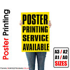 Full Colour Poster Print / Printing Service / A1 Sizes / 140gsm / Satin or Gloss