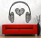 Wall Vinyl Music Hearts Headphones Head Phones Guaranteed...