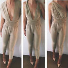 Sexy Plunge V Neck Creative Lace Up Open Backless High Waist Jumpsuit Romper A