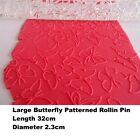 Patterned Rolling Pin Butterfly. Acrylic Embossed Pin, boxed Bulk buy available