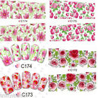 Nail Art Stickers Water Decals Nail Transfers Wraps Flowers Floral Leopard