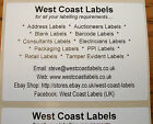 Printed Personalised Large White Address Labels - 100mm x 70mm