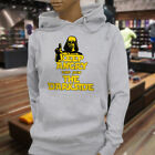 Calm Join the Dark Side Keep Angry Star Wars Chive Womens Gray Hoodie