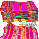 Peruvian Wool Throw, Picnic blanket, Bed /Sofa Bright colours,Ideal Festivals