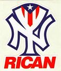 "Puerto Rico New York ""Rican"" ""Bronx"" ""Brooklyn"" Vinyl Stickers Better Quality!"