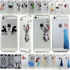 Disney Cute Cartoon Crystal Hardshell Phone Case Cover For iPhone 5S 5C 6 6 Plus