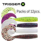 Trigger X Fishing Soft SWIMMING GRUB. PACK OF x 12 pcs. WITH SCENT 10 CM PTXSG4