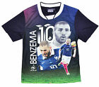 Boys Official Karim Benzema No10 Football France T-Shirt Top Tee 4-10 Years NEW