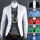 New Fashion Korean Mens Casual Slim Fit One Button Suit Jacket Coat Blazers