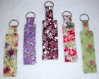 KEYCHAINS~Handcrafted~Reversible~Washable~Floral~Designs Vary~NEW~FREE SHIP