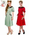 BANNED 50's style ELIZA NAUTICAL sailor DRESS RED MINT