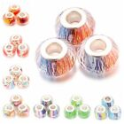 30/150pcs Wholesale Clear Colorful Resin European Charms Beads Fit Bracelets C