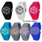 Ravel Ladies Silicon Summer Watch Sports Case Coloured Coordinated Silicon Strap