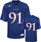 adidas Kansas Jayhawks Home #91 Football Jersey