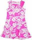 Girls Chainstore Neon Pink Floral Leaf Sleeveless Dress 8 to 14 Years NEW