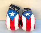"IMPERFECT Puerto Rico Flag Hanging ""Mini"" Boxing Gloves Ornaments Only! FLAWS!"