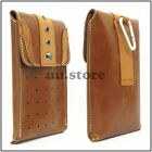 Brown Big Men Retro PU Leather Flip Belt Clip Hip Loop Holster Pouch Sleeve Case