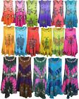 LADIES WOMENS INDIAN BOHO HIPPIE FLOWER PRINT SUMMER BEACH LONG VEST SWING DRESS