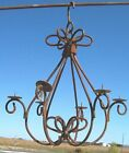 Wrought Iron California Candle Chandelier - Candelabra for Small Spaces