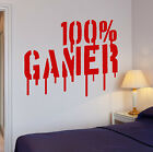 Wall Decal Gamer Video Games Computer Boys Room Vinyl Stickers (ig2655)