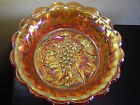 Older Imperial Carnival Glass Marigold Heavy Grape 9 in. Master Bowl