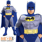 Deluxe Batman Muscle Boy's Fancy Dress Childrens Costume Kids Child Outfit New
