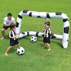 KIDS INFLATABLE FOOTBALL SHOOTING GOAL WITH NET & 2 BALLS ACTIVITY OUTDOOR GAMES