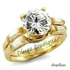 3.50 Ct Round Brilliant Cut CZ 14k Gold Plated Wedding Ring Set Women's Sz 5-10