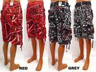 Men's FOCUS red grey multi colors fashion cargo shorts with belt style 15013