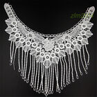 Lace Embroidered Venise Neckline Neck Collar Trim Clothes Sewing Applique Patch