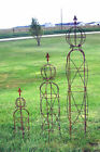 "44"" Small Wrought Iron Sphere and Finial Obelisk Trellis ..."