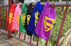 Kids superhero capes - Single Side Tie Superman cape red blue black pink green
