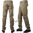 "Mens Peviani chinos, khaki slim-straight g fit denim ""rock star"" pants, hip hop"