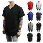 Men Baseball Raglan Jersey T-Shirt Sport Uniform Fashion Tee Casual Crew Neck