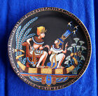 TUTANKHAMUN AND HIS PRINCESS from OSIRIS PORCELAIN W/22K GOLD DETAIL from EGYPT