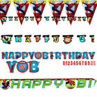 Spiderman Superhero Boys Birthday Party Personalize Banner Bunting Decoration