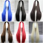 New Fashion Multi-Color Womens Full Long Bangs Wigs Anime Cosplay Party Wig 75cm
