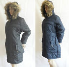 WOMEN'S BRAVE SOUL QUILTED COAT WITH FUR TRIM HOOD BLACK OR NAVY  VARIOUS SIZES