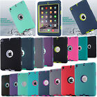 Shockproof Military Heavy Duty Rubber With Hard Bumper Case Cover For Apple iPad