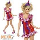 Sexy Fever Clown Ladies Fun Fancy Dress Carnival Womens Adult Costume Outfit