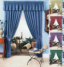 PAIR OF PENCIL PLEATED TAPED TOP CURTAINS COTTON PLAIN FULLY LINED ALL SIZES