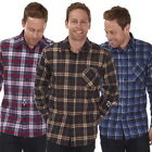 Mens Flannel Cotton Work Shirts Lumberjack Check Long Sleeve Shirt Fishing Farm