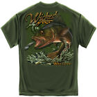 WICKED FISH WALLEYE ADULT T-SHIRT NEW