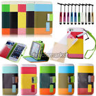New Hybrid Leather Wallet Flip Stand Case Cover Protector For iPhone 4 4S 5 5S