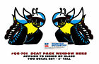 "GE-QG-701 1970 DODGE - SCAT PACK BEE DECAL - 2"" TALL - FACTORY STYLE - LICENSED"