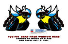 """GE-QG-701 1970 DODGE - SCAT PACK WINDOW BEE DECAL - 2"""" TALL - FACTORY - LICENSED"""