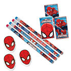 Spiderman Boys Birthday Party Bag Fillers Loot Bag - Pencil Pad & Rubber Set