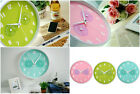 Pastel color Thermometer & Hygrometer Gauges Wall Clock Living Kitchen Watch
